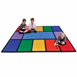 Rainbow Learning Rug